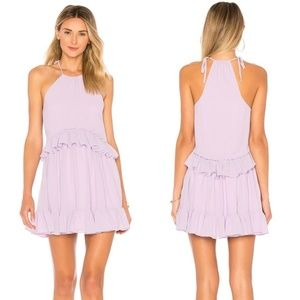 NWT Lovers + Friends Banks Ruffled Dress Lilac